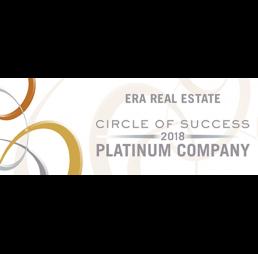 ERA real estate circle of success 2018 platinum company